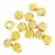2.5mm Cube Beads Gold Plated (10PK)