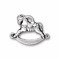 Antique Silver Rocking Horse Charm