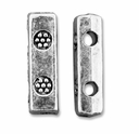 Antiqued Silver 10mm Ornate 2 Holes Spacer Beads (10PK)