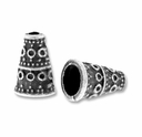 Antiqued Silver 10 x  7mm Cone Bead (10PK)