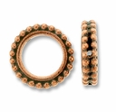 Antique Copper 8mm Beaded Round Frame