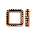 Antique Copper 6mm Beaded Square Frame