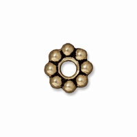 Brass Oxide 8mm Beaded Spacer LH Bead