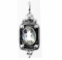 Oval Faceted Crystal Gemstone Pendant