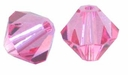 Rose 5328 4mm Swarovski Crystal XILION Bicones Beads (10PK)