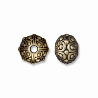 Brass Oxide 10mm Oasis LH Bead