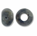 Chinese Labradorite Large Hole Gemstone Rondelle12x8mm (2PK)