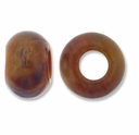 Tiger Eye Large Hole Gemstone Rondelle12x8mm (2PK)