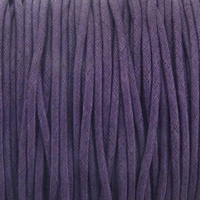 Purple 2mm Waxed Cotton Craft Cord (1YD)