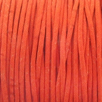 Orange 2mm Waxed Cotton Craft Cord (1YD)