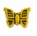 Gold Plated 10mm Butterfly Bead (1PC)