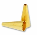 Gold Plated Small 12mm Cones (4PK)