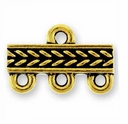 Antique Gold Braided 3-1 Link