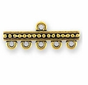 Antique Gold Beaded 5-Hole Link