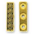 Antique Gold Deco Rose 3 Hole Link