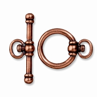 Antiqued Copper Watch Toggle Clasp