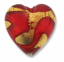 18mm Gold Foil Siam Heart (1pc)