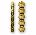 Antique Gold Beaded 5-1 Link