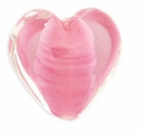 18mm Rose Satin Heart Bead (1pc)