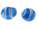 Lt. Sapphire Oval Fantasy Spiral 18/10mm (1pc)