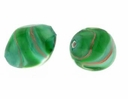 Emerald Oval Fantasy Spiral 18/10mm (1pc)