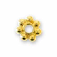 5mm Bright Gold Plated Heishi Spacer Beads (10PK)