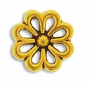 Antique Gold Open Daisy Link