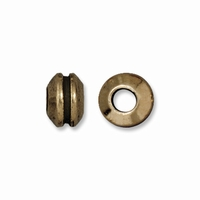 Brass Oxide 8mm Grooved Lg Hole Spacer