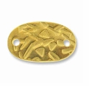 Abstract Oval Gold Link