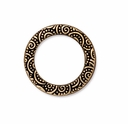 Antique Gold 3/4 Spiral Ring