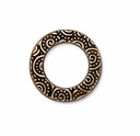 Antique Gold 5/8 Spiral Ring