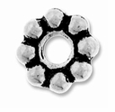Antique Silver 8mm Lg. Hole Spacer