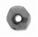 7mm Rhodium Nugget Heishi Spacer (10PK)