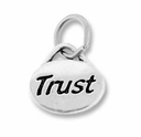 Silver Finish Pewter Message Charm TRUST (1pc)