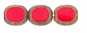 Opaque Red Picasso Oval Window 12/14mm Beads (12PK)