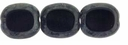 Jet Picasso Oval Window 12/14mm Beads (12PK)