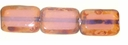 Picasso Milky Amethyst  8/12mm Rectangular Window Beads (12PK)