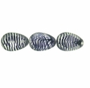 Drop Window Beads 12/18mm Crystal/Amethyst Stripe (12PK)