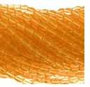 Rec. Amber 4x6mm Oval Beads 16 inch Strand