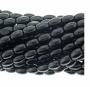 Black Onyx 4x6mm Oval Beads 16 inch Strand -C GRADE