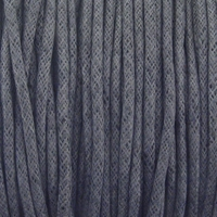 Grey 2mm Waxed Cotton Craft Cord (1YD)