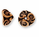 Antique Copper Lily Bead Cap