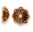 Antique Copper 8mm Oasis Bead Cap