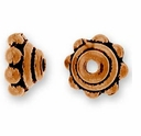 Antique Copper 5mm Beaded Bead Cap