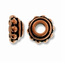 Antique Copper 8mm Lg. Hole Bead Cap