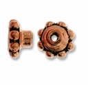 Antique Copper 5mm Aligner Bead Cap