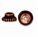 Antiqued Copper 7mm Crown Bead Cap