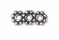 3 Hole 5mm Sterling Silver Daisy Spacer Bead (1PC)