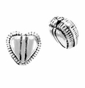 9mm Sterling Silver Bali Style Heart Bead (1PC)