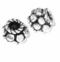 Sterling Silver 5 x 5mm Flat Dots and Rope Spacer Bead (1PC)